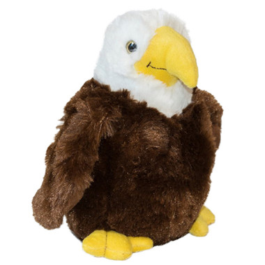 """Brown/White Stuffed Toy Eagle - 9"" high"""