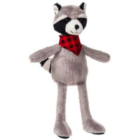"""Grey Stuffed Toy Raccoon - 9"" high"""