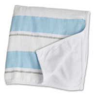 """Blue Stripe Childhood Blanket- 38"" x 38"" """