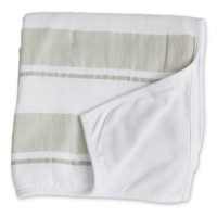 """Grey Stripe Childhood Blanket - 38"" x 38"" """