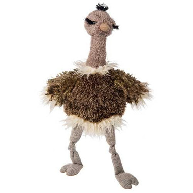 """Shaggy Brown Stuffed Toy Ostrich - 20"" high"""