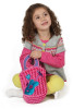 Colorful plush kids' purses