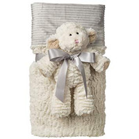 "28x40"" Marshmallow Lamb Cuddle Blanket Set (2 pieces)"