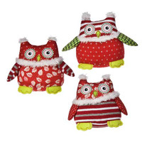 "3"" Mini Patchwork Owl Assortment (9 pieces)"