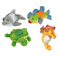 "4"" Sealife Finger Puppets (12 pieces)"