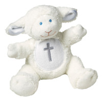 "6"" Christening Lamb Rattle (6 pieces)"