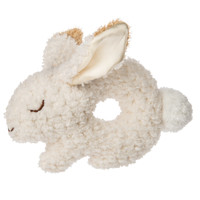 "6"" Oatmeal Bunny Ring Rattle (6 pieces)"