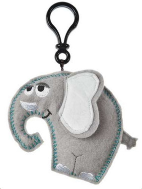 """Grey Stuffed Toy Elephant with Sound - 5"" high"""