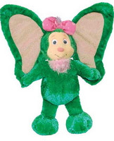 """Green Plush Stuffed Animal Wompkee with Big Ears - 10"" high"""