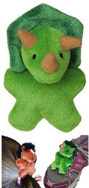 """Small Green Toy Dinosaur Hair Accessories - 3"" high"""