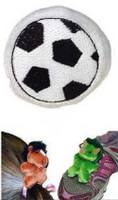 """Black/White Plush Soccer Ball in bulk - 3"" high"""