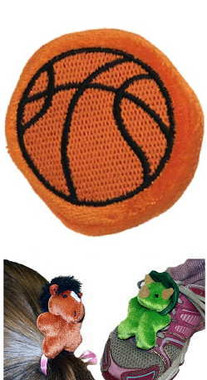 """Plush Basketball Stuffed Toy Hair Accessory - 3"" high"""