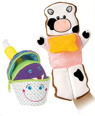 """Two Educational Stuffed Toys Wholesale -  7"" high & 12"" high"""