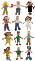 """Wholesale Finger Puppets People Assorted- 4"" high"""