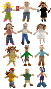 """""""Wholesale Finger Puppets People Assorted- 4"""" high"""""""