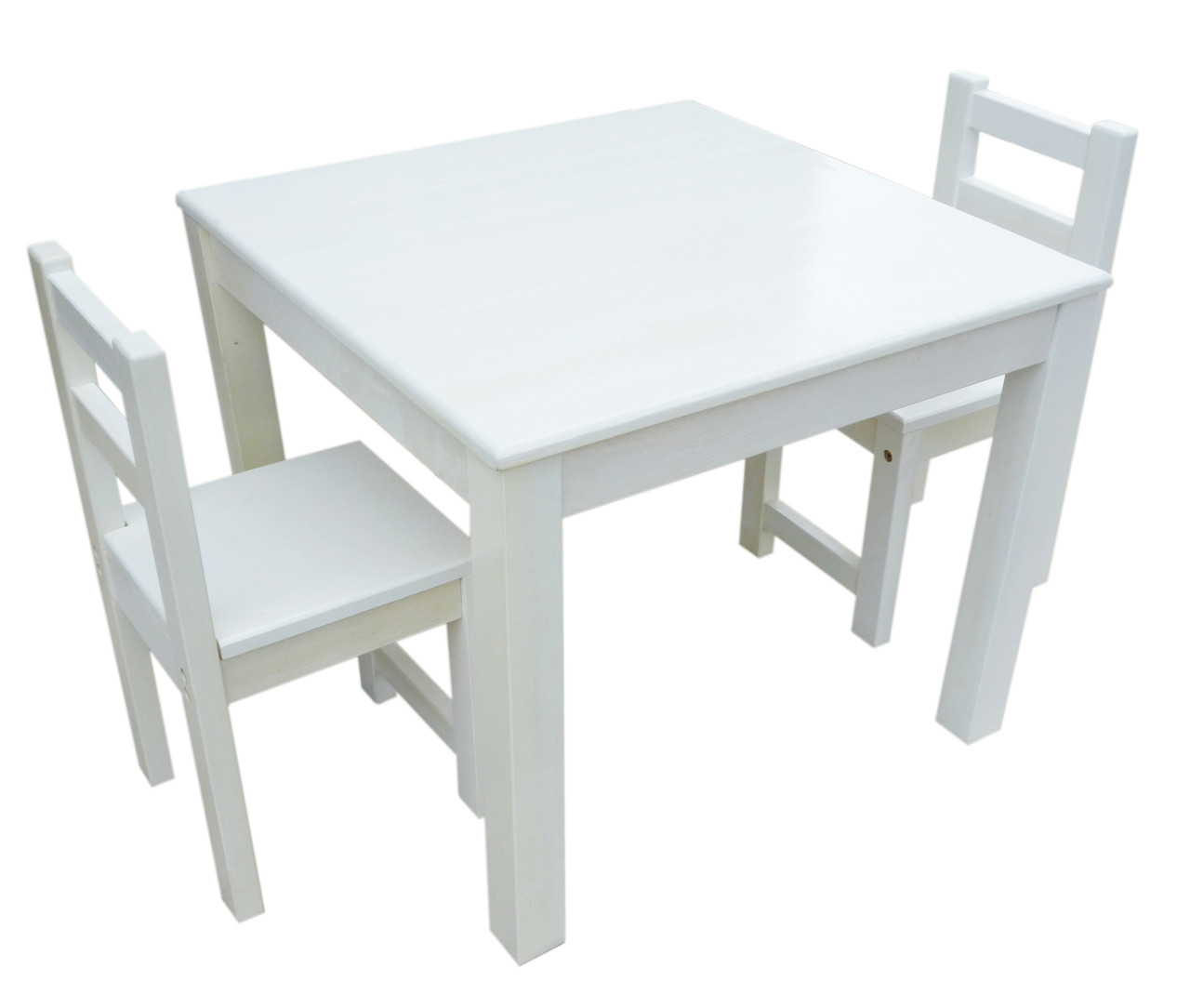White Tables And Chairs: QToys Eco-Friendly White Table & Chair Set For Kids On