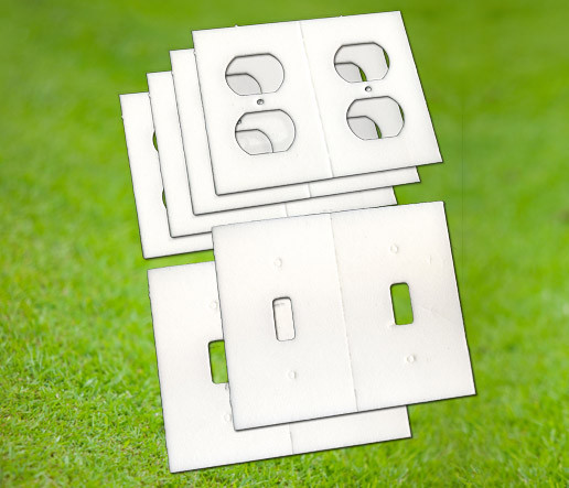 Outlet and light switch gaskets to reduce drafts