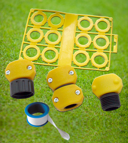 Garden Hose Repair Kit for reducing outdoor water waste