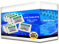 Case of 2,000 Dye Tablet Packets (4,000 Individual Tablets) | Detect silent leaks | Bulk | Toilet Tank leak detection | Plumbing