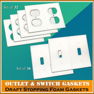 Electrical Outlet and Light Switch plate Gasket Insulator Kit 48 Count