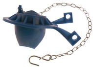 Corrosion resistant replacement flapper with a steel chain for toilet repairs.
