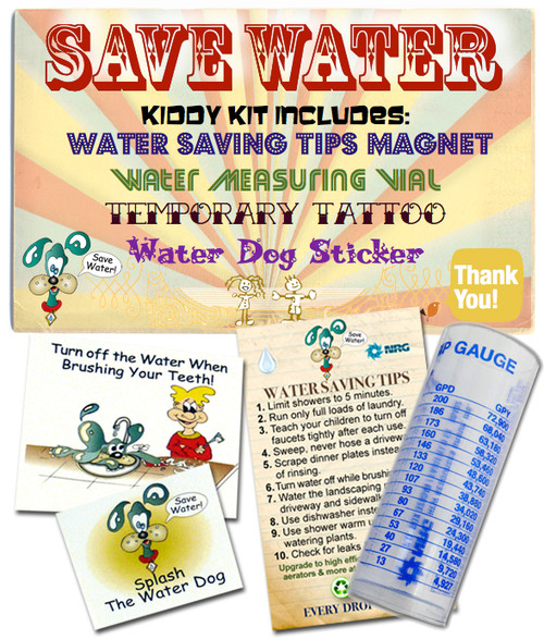 A water saving kit, great for kids and students!
