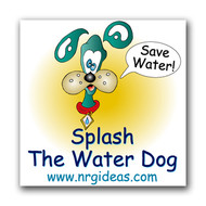 Splash the Water Dog Save Water Temporary Tattoo | Conservation Product for Kids