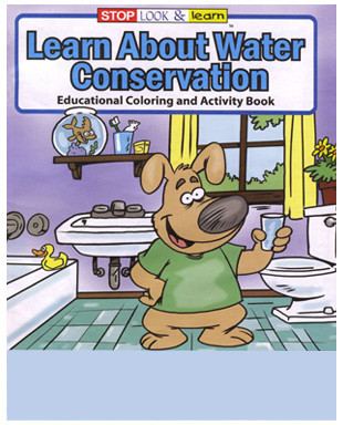 Saving Water Energy Conservation Coloring Activity Book - Coloring-book-fun