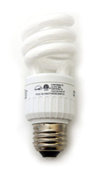 Spiral CFL Bulb - 13 Watt Compact Fluorescent Light - Lead Free Energy Saving