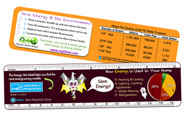 Energy Ruler | Educational Learning Tool | Fun Energy Tips & Savings | Drip Gauge