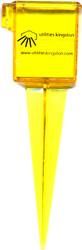 "SPECIAL 1.5"" Rain gauge / Over PRINTED Sprinkler Gauge, Wide mouth, Bright Yellow Outdoor water measuring tool"