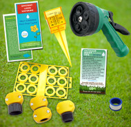 Summer Lawn & Garden Outdoor Water Saving Eco-Kit, hose nozzle, rain gauge, repair & conserve