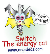 Save Energy Temporary Tattoos | Switch the Cat Message Conservation & fun product