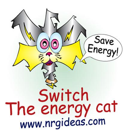 Single Temporary Tattoo With Switch The Cat Cartoon
