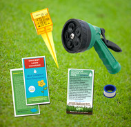 Green Lawn & Garden Outdoor Water Saving Eco-Kit, simple hose nozzle, rain gauge