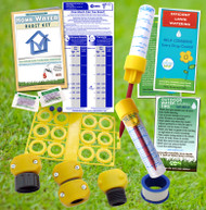 Outdoor Home Water Audit Kit - Hose Repair | Rain Gauge | Flow Bag | Toilet Dye Tablets