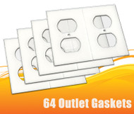64 Gasket Covers, Electrical Outlet Draft Stopper Foam Gaskets
