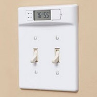 Double Wall plate Digital Thermometer (White) Toggle | Monitor Room Temperature
