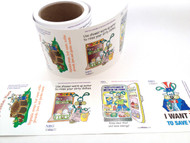 Kitchen saving Roll of Vinyl Cling  4 designs water & energy savers 100 - Fun Educational  product for all ages!