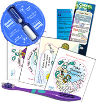 Shower Bathroom Fun Kit Kids Shower Timer | Toothbrush Bathroom Vinyl Cling Stickers & Bookmark