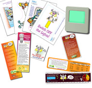 Childs Energy Saving Kit -  Night Light | Magnet | Tattoo | Ruler | Vinyl Cling Sticker Set and Bookmark