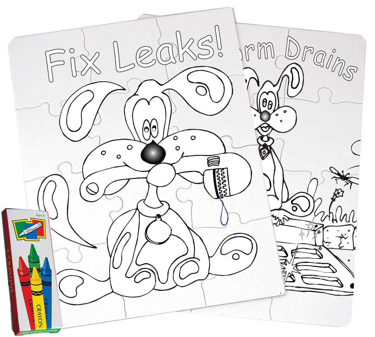 Coloring Puzzles With Splash the Water Dog - Great Gift Idea