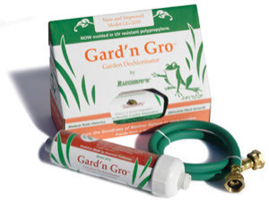Gard'n Gro garden chlorine filter for a much natural garden soil eco system with less chlorine.