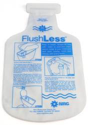 Toilet Tank Flush Less Water Saver Displacement Bag | Tummy Bank Water Saving Device