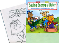 Water and Energy Conservation Coloring Activity Fun Book Grades 2-6