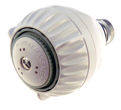 Full flow 2.5 gpm shower head, with 3 luxurious shower settings.