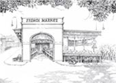 French Market Ink Art