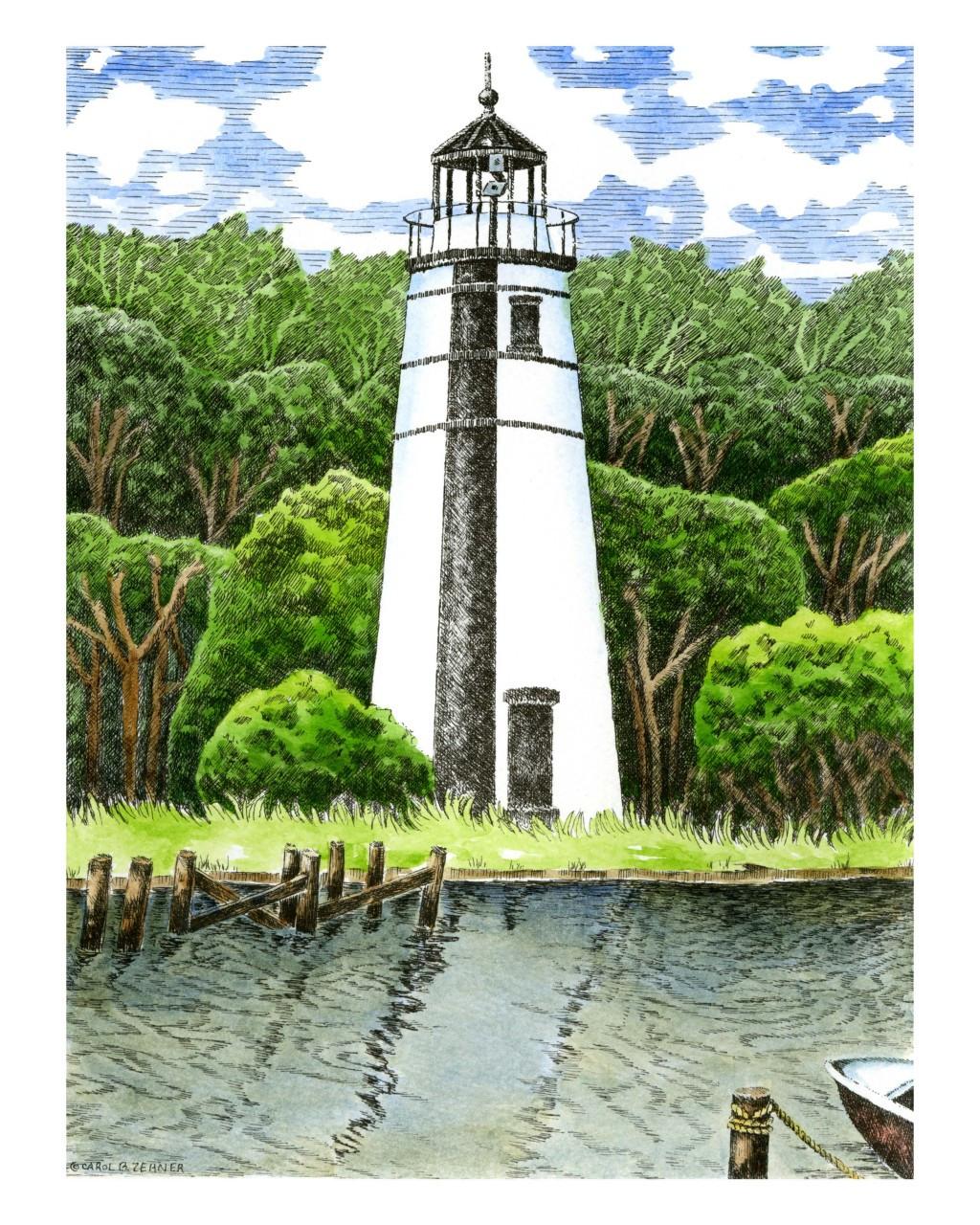 Madisonville Lighthouse Carol Zehner Art