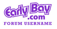 EarlyBay.com Logo + Your Username Sticker