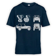 YJ Blueprint Kids T-Shirt